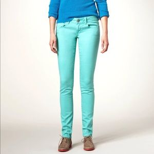 American Eagle Skinny Stretch Jeans in Mint Green